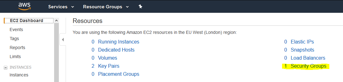 AWS Secuirty Groups